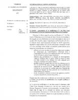 Délibération d'approbation du 5 mars 2020